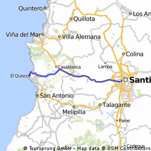 De Santiago al Quisco por Casablanca