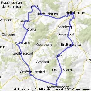 Hollabrunn-Fahndorf-Großweikersdorf-Hollabrunn