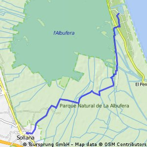 Ruta hacia Sollana