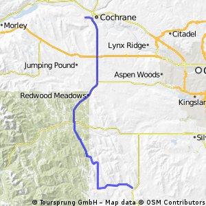 Cochrane to Millerville Alberta