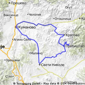 Cycling routes and bike maps in and around Kumanovo Bikemap Your