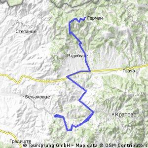 (road) Rankovce-Sopsko Rudare-Rankovce-German-Rankovce