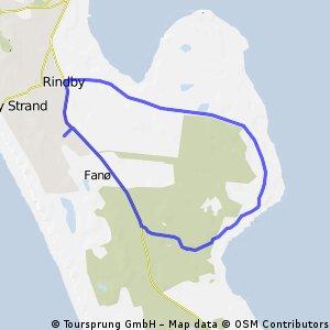 Fanoe Klitplantage Rundfahrt