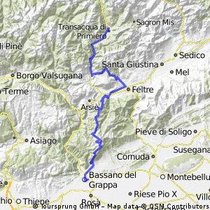 Bassano del Grappa to Fiera