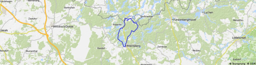 Rheinsberger Seen - Route