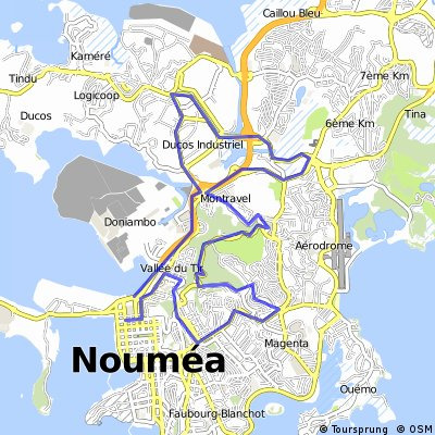 Cycling routes and bike maps in and around Noumea Bikemap Your