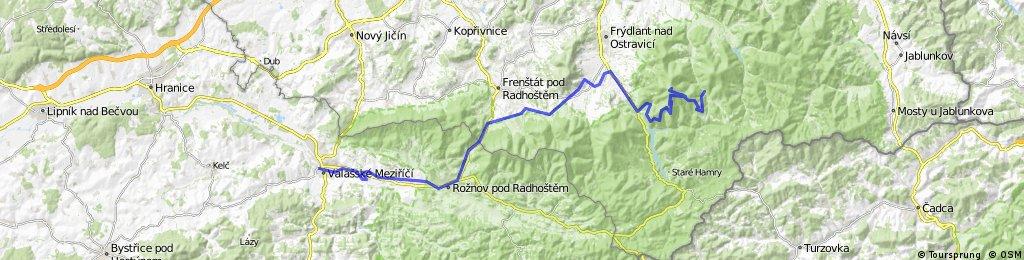 Výjezd na Lysou a zpět do Valmezu