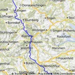 3.Etappe Mainz - Mailand: Villingen - Hulfteggpass