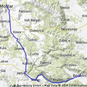 Mostar - Berkovići (República Srpska) / 5-11-2013