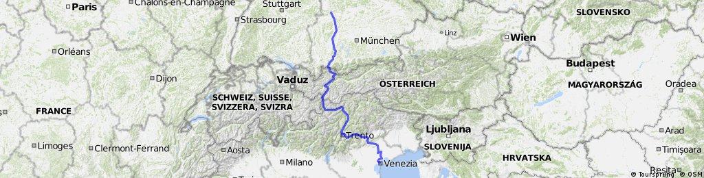 VIA CLAUDIA von Donauwörth über die Alpen nach Altino bei Venedig