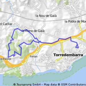 Torredembarra-Valla verda-Sant Simplici-Depuradora-Castellot-Torredembarra( DOMENEC )