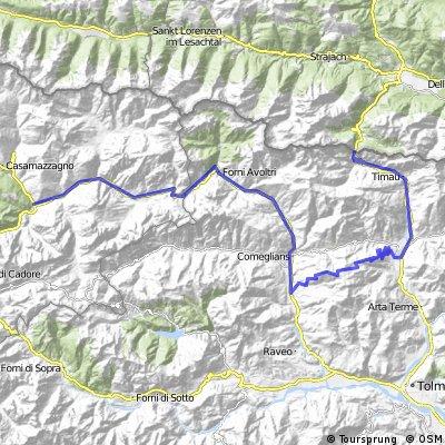 Alpy 2014   z Prata na Plockenpass   04 - Cima Sappada / Zoncolan / Plockenpass