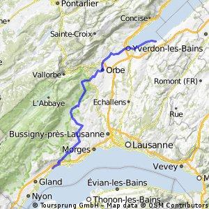 2. Yvonand - Rolle (70 km)