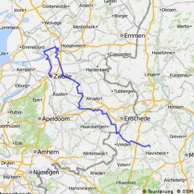 Nach Zwolle durch den Sallandse Heuvelreug mit Rundweg um Zwolle