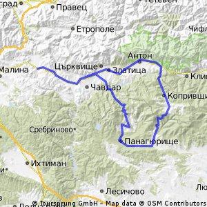 Долно Камарци-Челопеч-Панагюрище-Стрелча-Копривщица-Златица-Долно Камарци