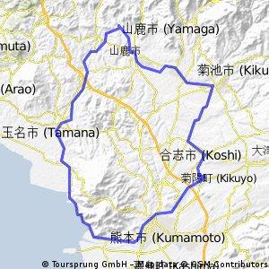 99kmフラット 熊本北区・西区・中央区ぐるっと1週コース