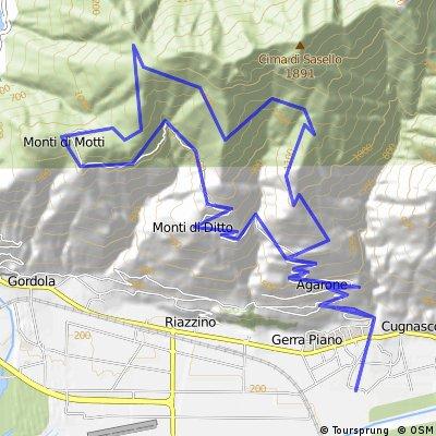 Alpe di Foppiana via Cugnasco M.Motti M.Velloni