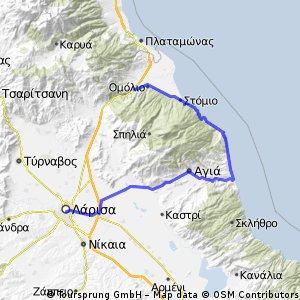 Τέμπη - παραλιακή οδός - Αγιόκαμπος - Λάρισα