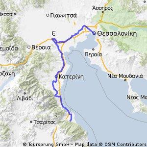 Θεσσαλονίκη-Κατερίνη-Τέμπη