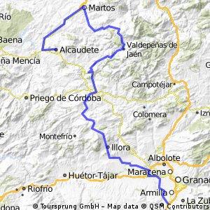 7ª Eta Alhendin , Alcaudete 150 km