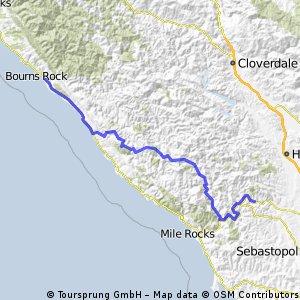 Day 2: Gualala to Guerneville via King Ridge