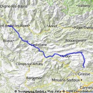 Stage 17 of 26 Le-Bar-Sur-Loup - L'Amata 93km