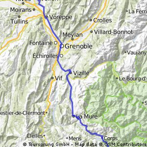 Stage 19 of 26 Corps - Voiron 113km
