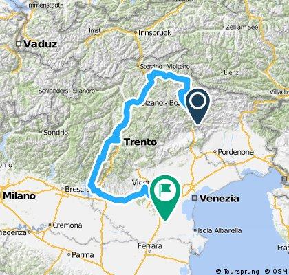 2013 Dolomites à Venise par lac de Garde en Vélofamille