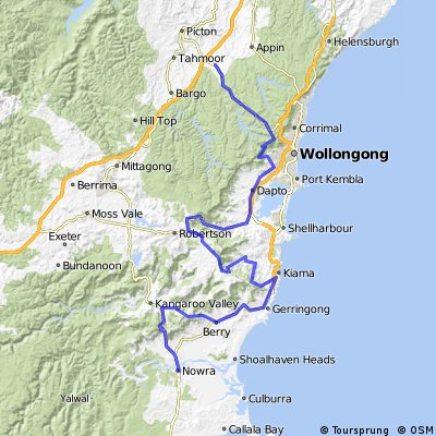 Cycling routes and bike maps in and around Nowra Bikemap Your
