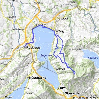 Zuger Alpli via Rotkreuz Schönegg Buschenchappeli