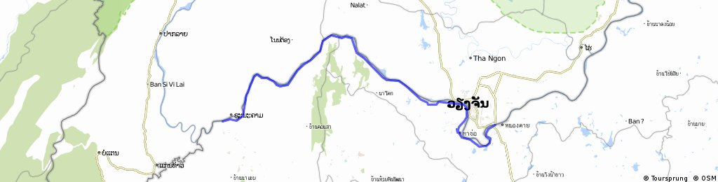 Nong Khai to Chiang Khan, Mekong River Route