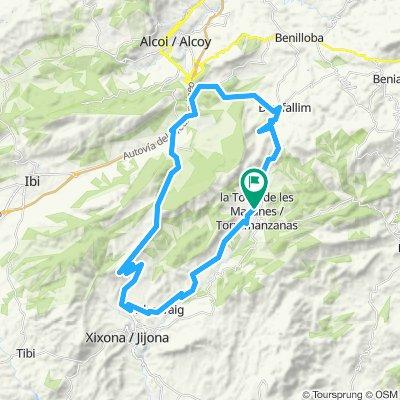 Rondrit 50 km vanuit Torremanzanas