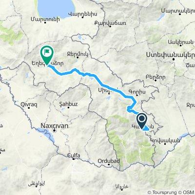 Armenien Tour 1. Etappe Kapan - Jehegnadsor 180 km