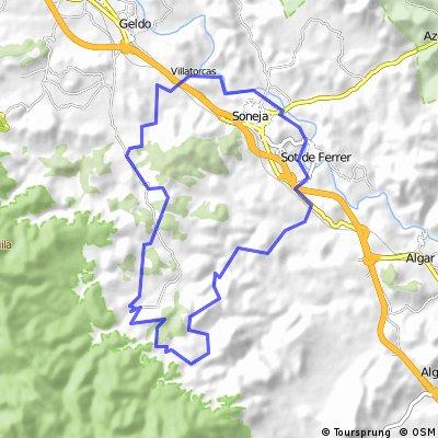 Sot de Ferrer - Masía de Ferrer - Lagunas de la Cantera del Gabacho