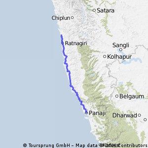 Ganpatipule to Goa