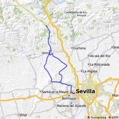 72k round trip Salteras - Gerena - El Garrobo -  Olivares