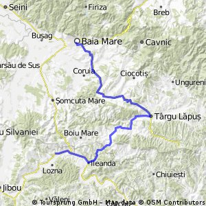 Baia Mare-Trg.Lapus-Vima Mare-Ileanda-Lemniu