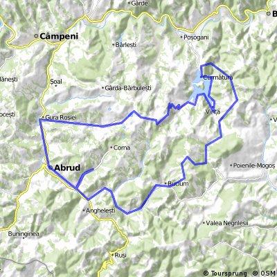 Bucium Sat - Detunata Goala - Valea Sesii - Iazul de decantare - Cariera - Rosia Montana - Abrud - Bucium Sat