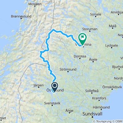 Kurve um Norwegen herum