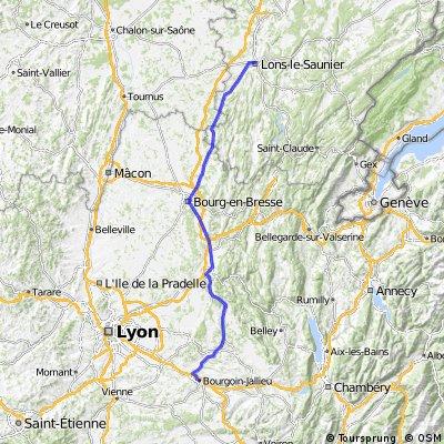 Day 8 Lens le Sauntier - Bourgoin Jellieu