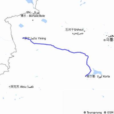 【Korla to Yining伊寧 】634km