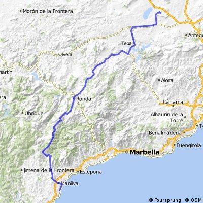Day 13: London to Morocco - Humilladero to Estapona