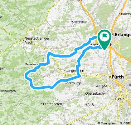 Tour A - Zenntal 77km / 600hm