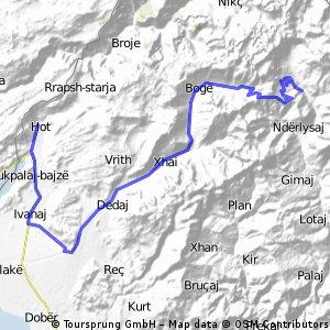 Albansko 2.den, trasa č.2
