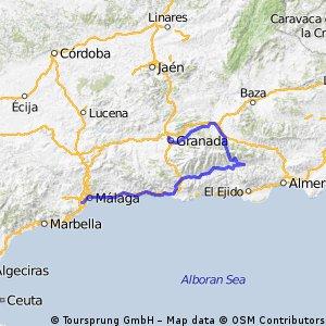Granada - Malaga (Guadix, Alpujarraz)