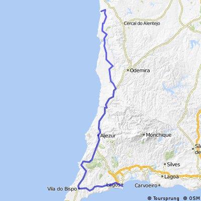 14. Camping Trindade bei Lagos - Porto Covo