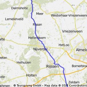 Route van Kerspel Goor naar Callunaweg oost Ommen Versie 1