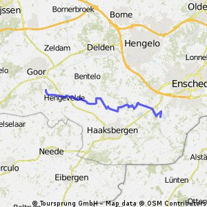 Naar Rutbeek 22 km