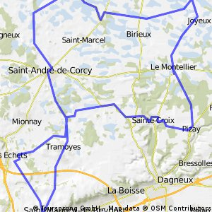 circuit Ste Croix ( les Dombes)
