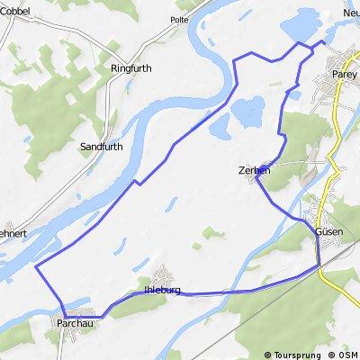 Rundtour Parchau-Parey-Zerben-Güsen-Ihleburg-Parchau
